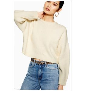 Topshop Super Soft Ribbed Cropped Jumper Sweater
